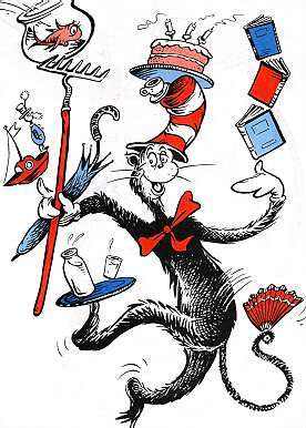 Juggling Cat in the Hat